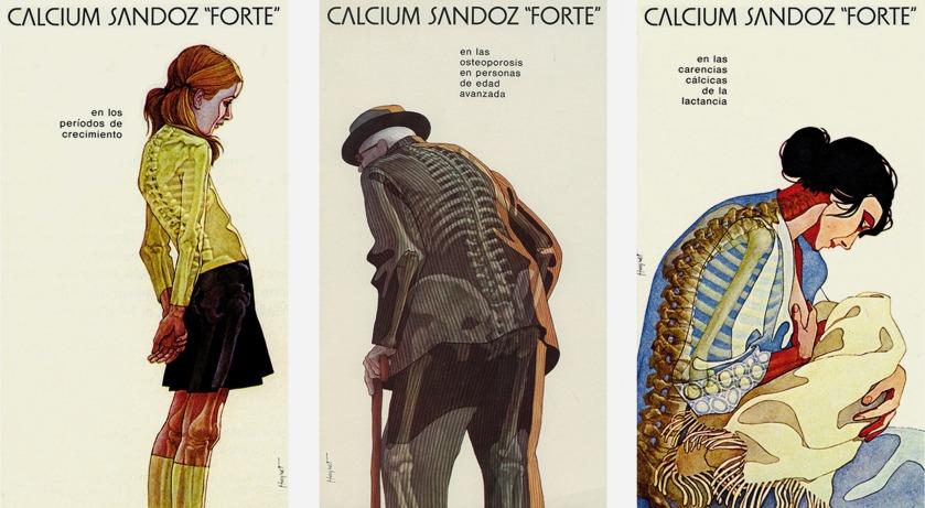 Il·lustracions Calcium Sandoz Forte Enric Huguet 2